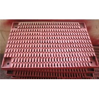 喷涂筛板 高炉槽下筛梳齿喷涂振动筛筛板 筛孔6mm